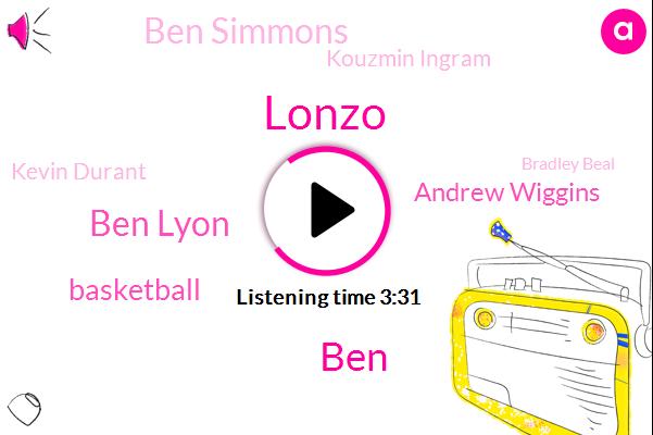 Lonzo,BEN,Ben Lyon,Basketball,Andrew Wiggins,Ben Simmons,Kouzmin Ingram,Kevin Durant,Bradley Beal,Russell Westbrook Namie,Gardner,DON,Klay,Steph,One Hundred Percent