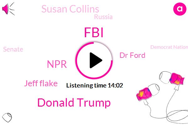 FBI,Donald Trump,NPR,Jeff Flake,Dr Ford,Susan Collins,Russia,Senate,Democrat National Committee,Frank Luntz,James,FOX,Chuck Grassley Grassley,Feinstein,Kevin,CNN,James Comey