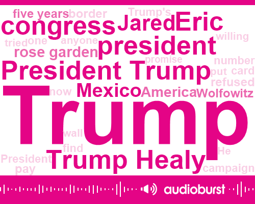 President Trump,Donald Trump,Trump Healy,Congress,Eric,Jared,Mexico,Rose Garden,America,Wolfowitz,Five Years