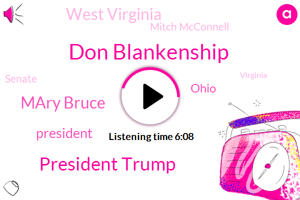 Don Blankenship,President Trump,Mary Bruce,ABC,Ohio,West Virginia,Mitch Mcconnell,Senate,Virginia,China,White House,Indiana,Political Director,Bruce Abc,Russia,Executive,North Carolina,Joe Manchin