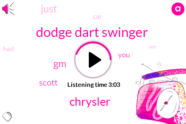 Dodge Dart Swinger,Chrysler,GM,Scott