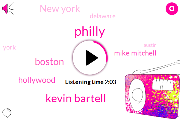 Kevin Bartell,Philly,Boston,Hollywood,Mike Mitchell,New York,Delaware,York,Austin,One Hundred Hundred Percent