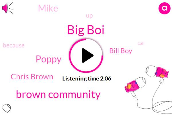 Big Boi,Brown Community,Poppy,Chris Brown,Bill Boy,Mike