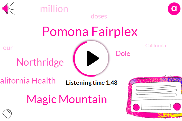 Pomona Fairplex,Magic Mountain,Northridge,California Health,Dole