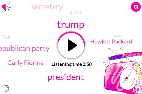 Donald Trump,President Trump,Republican Party,Carly Fiorina,Hewlett Packard,Secretary,CEO,TED,Cruz