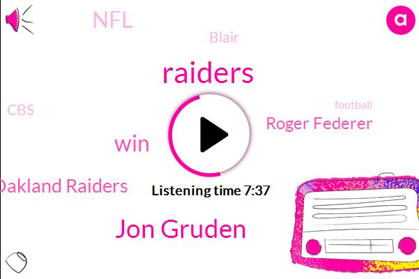 Raiders,Jon Gruden,Oakland Raiders,Roger Federer,NFL,Blair,CBS,Football,Millman,Cowley,Boehner,Cowboys,Basketball,Mackenzie Gruden,Gruden,Rams,Oakland,Alex Perlman,Verona