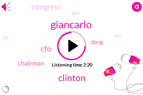 Giancarlo,Clinton,CFO,Chairman,Doug,Congress