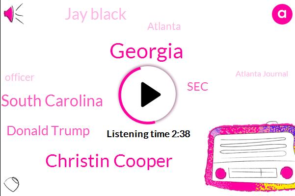 Christin Cooper,South Carolina,Donald Trump,Georgia,Jay Black,SEC,Atlanta,Officer,Atlanta Journal,Georgia Tech,WSB,Atlanta University Center,Columbia,Walmart,Brad Nitz,Holyfield,Kirby