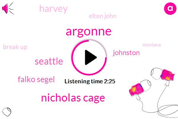 Argonne,Nicholas Cage,Seattle,Falko Segel,Johnston,Harvey,Elton John,Break Up,Montana,California,Ann Coulter,Jon Karroll,Rhode,Bill,Wpro High