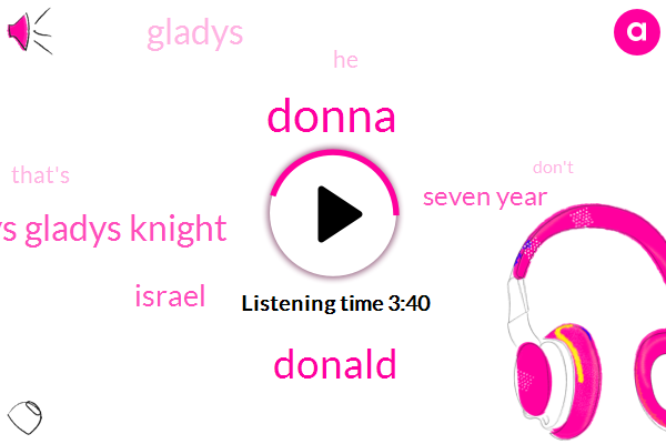 Donna,Donald Trump,Gladys Gladys Knight,Israel,Seven Year