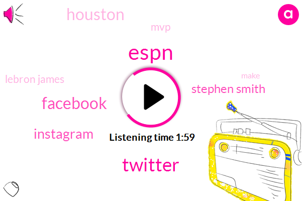 Twitter,Espn,Facebook,Instagram,Stephen Smith,Houston,MVP,Lebron James