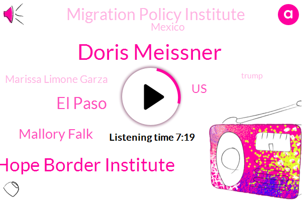 Doris Meissner,Hope Border Institute,El Paso,Mallory Falk,United States,Migration Policy Institute,Mexico,Marissa Limone Garza,Donald Trump,Annunciation House,COW,Five Days,First,President Trump,Two Years Ago,President Obama,NPR,First Name,U. S.