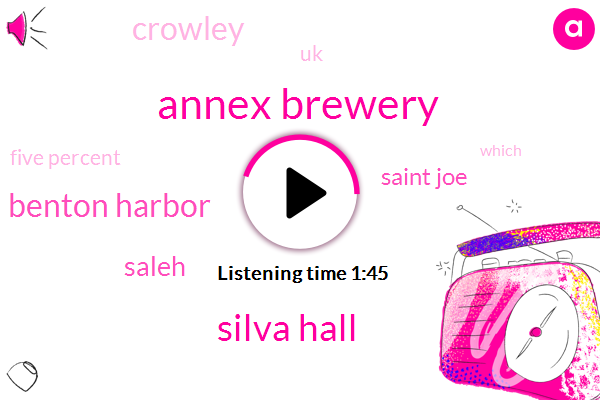 Annex Brewery,Silva Hall,Benton Harbor,Saleh,Saint Joe,Crowley,UK,Five Percent