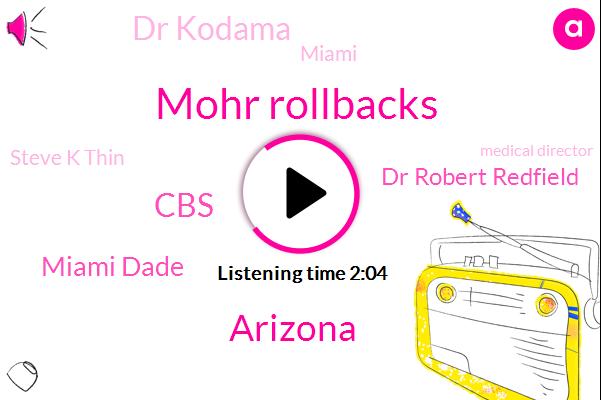 Mohr Rollbacks,Arizona,CBS,Miami Dade,Dr Robert Redfield,Dr Kodama,Miami,Steve K Thin,Medical Director,President Trump,Los Angeles County,Sonora Quest,Lemay,FLU,Director,CDC,U. S