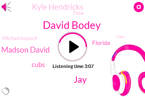 David Bodey,Chicago,JAY,Ryan Madson David,Cubs,Florida,Kyle Hendricks,Espn,Theo,Michael Kopech,Cape,JOE,Ricketts,Nine Nine Nine Percent