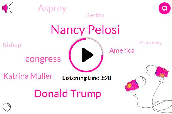 Nancy Pelosi,Donald Trump,Congress,Katrina Muller,America,Asprey,Bertha,Bishop,Us Attorney,Prosecutor,Twenty Years