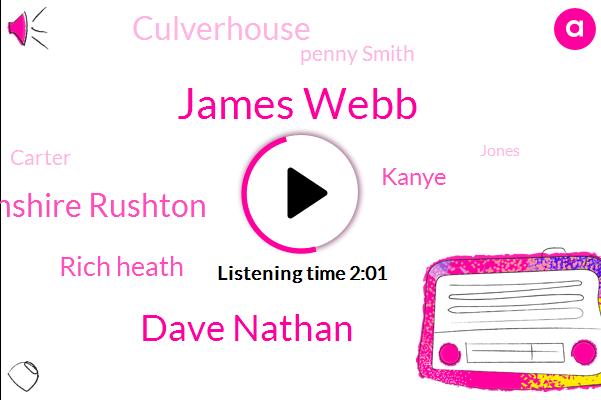 James Webb,Dave Nathan,Northamptonshire Rushton,Rich Heath,Kanye,Culverhouse,Penny Smith,Carter,Jones,Jerry,Zero Percent