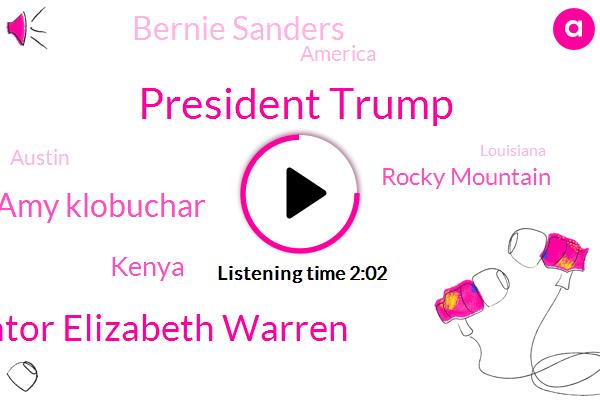 President Trump,Senator Elizabeth Warren,ABC,Senator Amy Klobuchar,Kenya,Rocky Mountain,Bernie Sanders,America,Austin,Louisiana,Leon Castro,Larry Cudlow,Amazon,Advisor,Congress,HUD,Mark Remillard,Secretary
