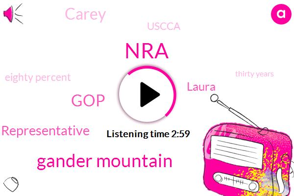 NRA,Gander Mountain,GOP,Representative,Laura,Carey,Uscca,Eighty Percent,Thirty Years
