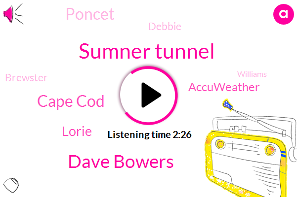 Sumner Tunnel,Dave Bowers,Cape Cod,Lorie,Accuweather,Poncet,Debbie,Brewster,Williams,Iheart,Boston,WI,Orleans,Eighty Nine Degrees,Four Day