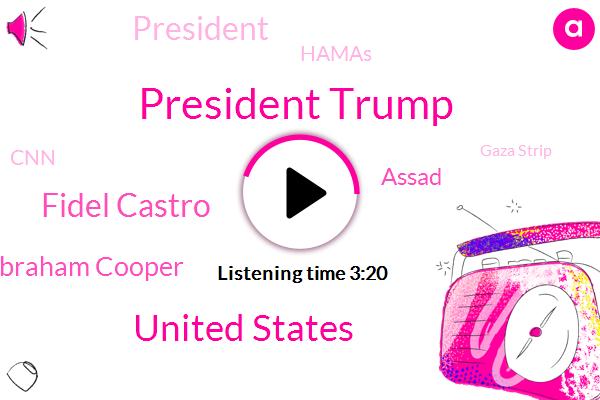 President Trump,United States,Fidel Castro,Abraham Cooper,Assad,Hamas,CNN,Gaza Strip,Temple Mount,Medina,Somalia,Jerusalem,George W Bush,Tehran,Nancy Pelosi,Mr. Hooper,Sudan,The New York Times