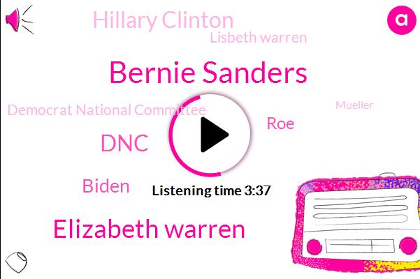 Bernie Sanders,Elizabeth Warren,DNC,Biden,ROE,Hillary Clinton,Lisbeth Warren,Democrat National Committee,Mueller,Twenty Twenty,NC,Principal,Wade,LIZ