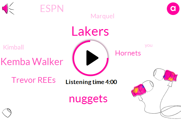 Lakers,Nuggets,Kemba Walker,Trevor Rees,Hornets,Espn,Marquel,Kimball,Noah,Maryland,Billy Herman Gomez,NBA,Sixers,James Harden,Denver,Mason Plumlee,Knicks,Isaiah Thomas