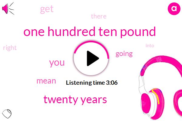 One Hundred Ten Pound,Twenty Years