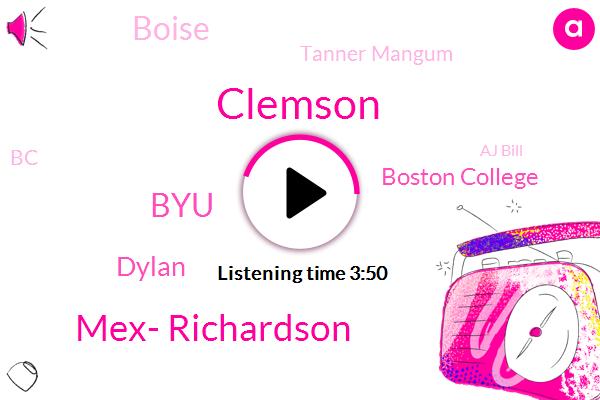 Clemson,Mex- Richardson,BYU,Dylan,Boston College,Boise,Tanner Mangum,BC,Aj Bill,Jeff Grimes,Coordinator,Landry,Espn,Doug,Stanford,RAY