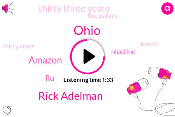 Ohio,Rick Adelman,Amazon,FLU,Nicotine,Thirty Three Years,Five Dollars,Thirty Years,Six Ten W