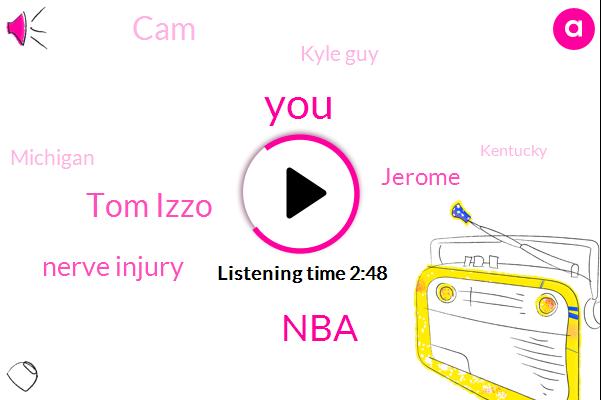 Tom Izzo,NBA,Nerve Injury,Jerome,CAM,Kyle Guy,Michigan,Kentucky,Williams,Virginia,John Hunter