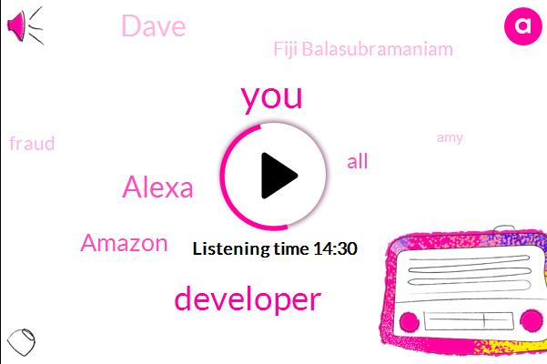 Developer,Alexa,Amazon,Dave,Fiji Balasubramaniam,Fraud,AMY,Hirsch