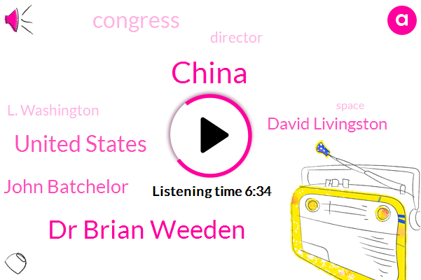 China,Dr Brian Weeden,United States,John Batchelor,David Livingston,Congress,Director,L. Washington,Detroit,NFL,Walser,Obama Administration,Partner,Nasa,Thorpes,President Trump,Donald Trump