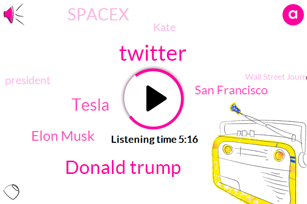Twitter,Donald Trump,Elon Musk,Tesla,San Francisco,Spacex,Kate,President Trump,Wall Street Journal,Wanna,SEC,FBI,The Times