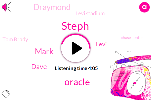Steph,Oracle,Mark,Dave,AT,Levi,Draymond,Levi Stadium,Tom Brady,Chase Center,Basketball,Baseball,Brees,Marco Scooter,Espn