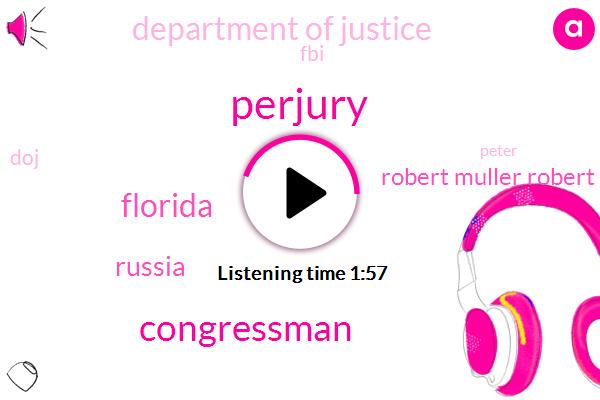 Perjury,Congressman,Florida,Russia,Robert Muller Robert Muller,Department Of Justice,FBI,DOJ,Peter,Hannity,Ron Deligence,Flynn,Robert Muller,Attorney,Professor,James,Text Messages