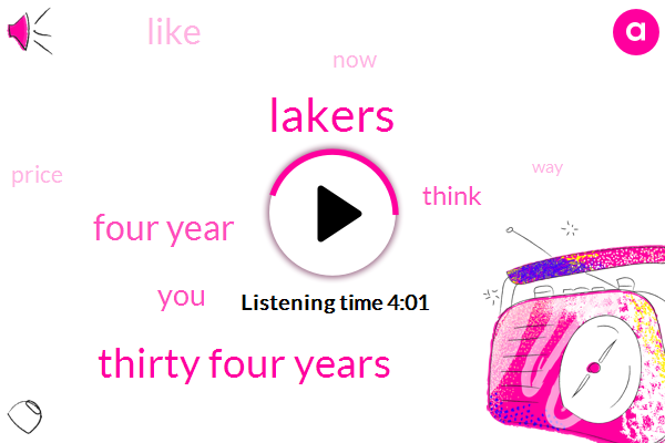 Lakers,Thirty Four Years,Four Year