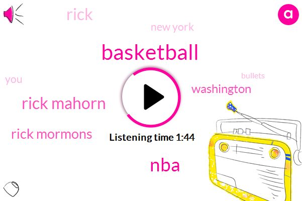 Basketball,NBA,Rick Mahorn,Rick Mormons,Washington,Rick,New York