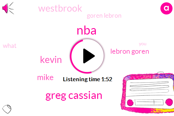 NBA,Greg Cassian,Kevin,Mike,Lebron Goren,Westbrook,Goren Lebron