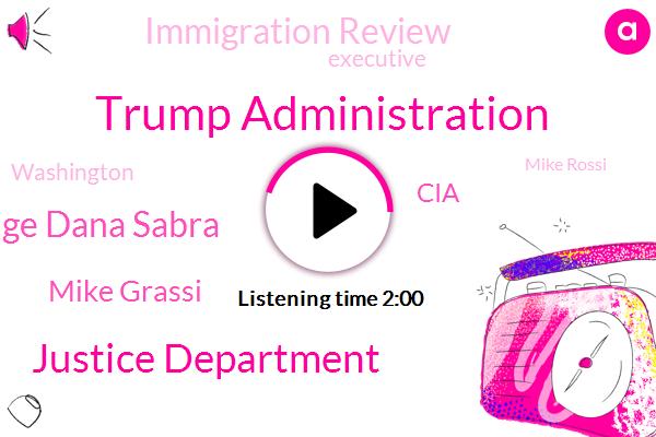 Trump Administration,Justice Department,U. S. District Judge Dana Sabra,Mike Grassi,CIA,Immigration Review,Executive,Washington,Mike Rossi,United States,Biden