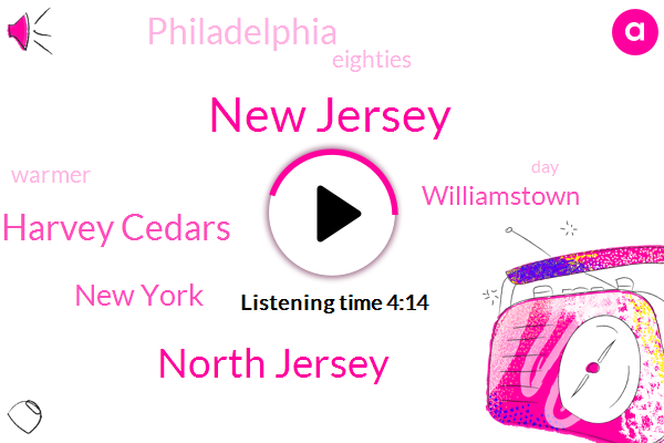 New Jersey,North Jersey,Harvey Cedars,New York,Williamstown,Philadelphia