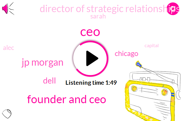 Founder And Ceo,CEO,Jp Morgan,Dell,Chicago,Director Of Strategic Relationships,Sarah,Alec