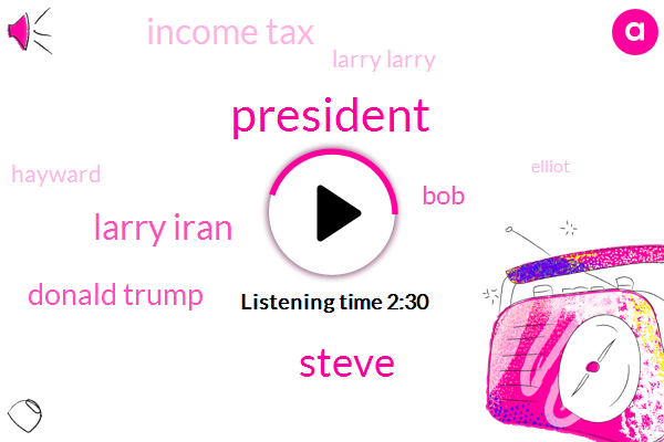 President Trump,Steve,Larry Iran,Donald Trump,BOB,Income Tax,Larry Larry,Hayward,Elliot,New York,Richard,California,Florida
