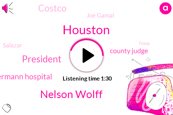 Houston,Nelson Wolff,President Trump,Memorial Hermann Hospital,County Judge,Costco,Joe Gamal,Salazar,Texas,Heroin,Michael,Twelve Hundred W,Seven Degrees
