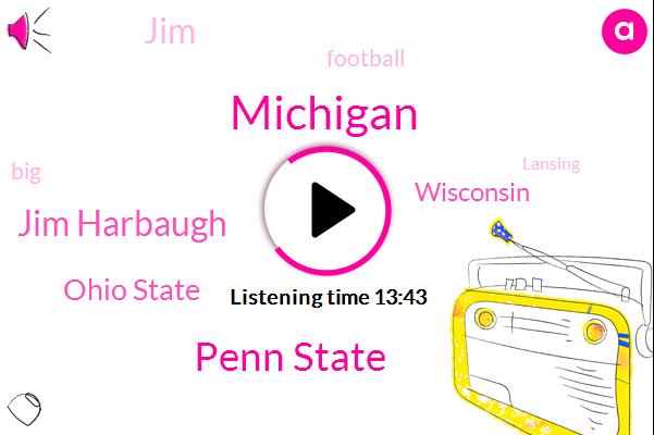 Michigan,Penn State,Jim Harbaugh,Ohio State,Wisconsin,JIM,Football,Lansing,Jim Brandstatter,Beaver Stadium,Michigan Defense,Michigan Wolverines,Scotty,Michigan Ohio,Notre Dame,Fedex,London,NFC,Spartans,Jeeves
