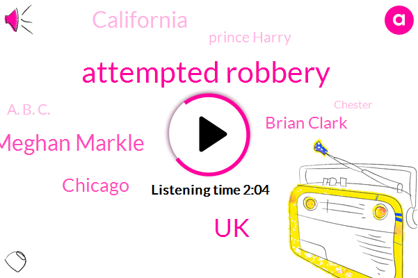 Attempted Robbery,UK,Meghan Markle,Chicago,ABC,Brian Clark,California,Prince Harry,A. B. C.,Chester,Brock State Park,Illinois,New York,Nfl Players Association,Executive Committee,NFL,Ian Pannell,Chief Foreign Correspondent