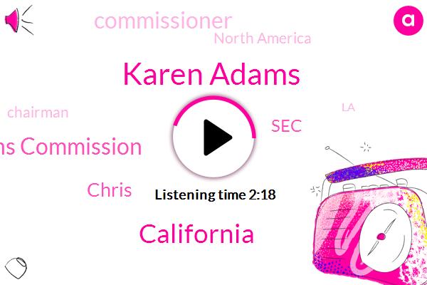 Karen Adams,California,Federal Communications Commission,Chris,SEC,Commissioner,North America,Chairman,LA,F. A. A.,Mike Fuehrer,Rob Archer K.,Los Elementos,Craig,Hollywood Burbank,Attorney