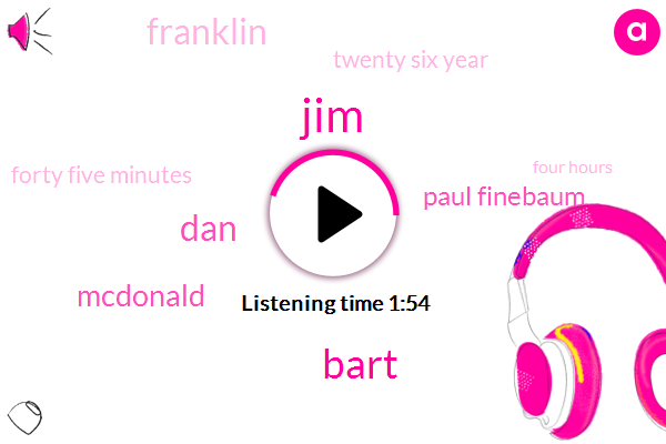 JIM,Bart,DAN,Mcdonald,Paul Finebaum,Franklin,Twenty Six Year,Forty Five Minutes,Four Hours