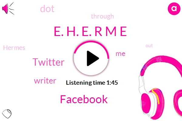 E. H. E. R M E,Facebook,Twitter,Writer
