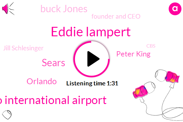 Eddie Lampert,Orlando International Airport,Sears,Peter King,Orlando,Buck Jones,Founder And Ceo,Jill Schlesinger,CBS,Chairman,Two Billion Dollar